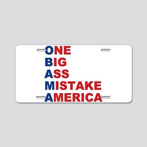Anti Barack Obama Aluminum License Plate