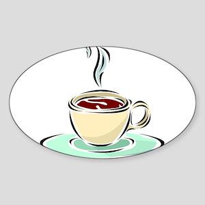Coffee28 Oval Sticker