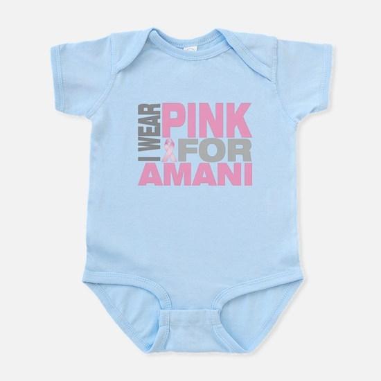 I wear pink for Amani Infant Bodysuit