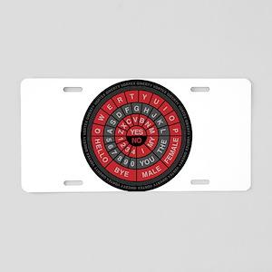 Qwerty Vortex Aluminum License Plate