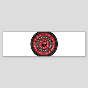 Qwerty Vortex Sticker (Bumper)
