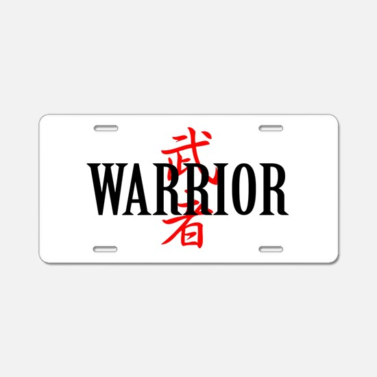 Warrior Aluminum License Plate