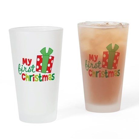 Present My 1st Christmas Drinking Glass