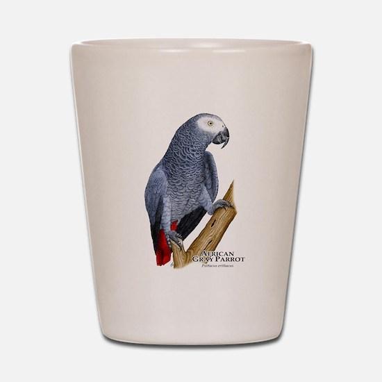 African Gray Parrot Shot Glass