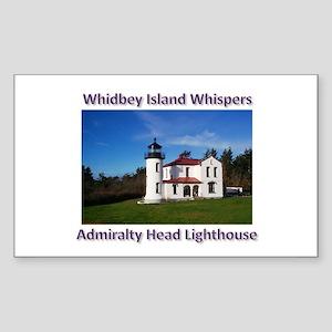 Admiralty Head Inlet Lighthou Sticker (Rectangle)