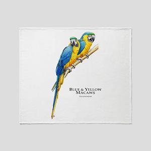 Blue & Yellow Macaws Throw Blanket