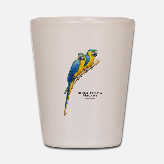 Blue & Yellow Macaws Shot Glass