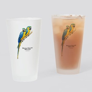 Blue & Yellow Macaws Drinking Glass