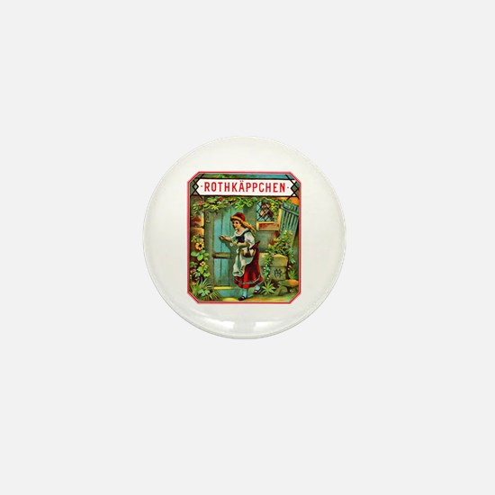 Red Riding Hood Cigar Label Mini Button