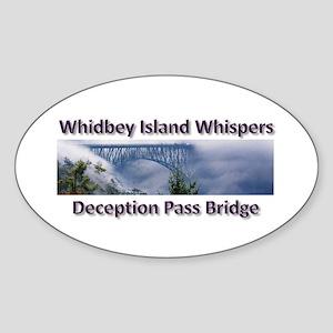 Deception Pass Bridge Sticker (Oval)
