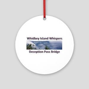 Deception Pass Bridge Ornament (Round)