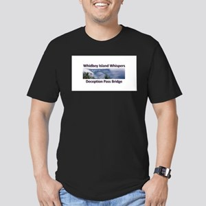 Deception Pass Bridge Men's Fitted T-Shirt (dark)