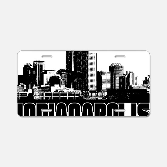 Indianapolis Skyline Aluminum License Plate
