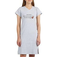 Attention Span Squirrel Women's Nightshirt