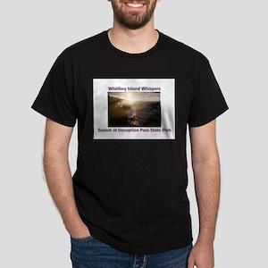 Sunset at Deception Pass Stat Dark T-Shirt