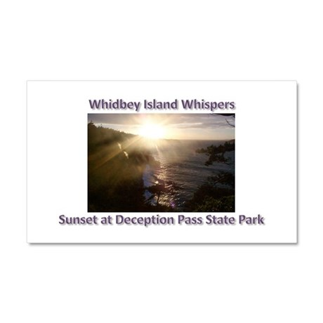 Sunset at Deception Pass Stat Car Magnet 20 x 12