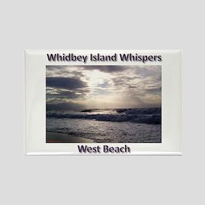 West Beach Rectangle Magnet