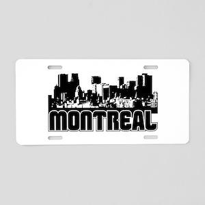 Montreal Skyline Aluminum License Plate