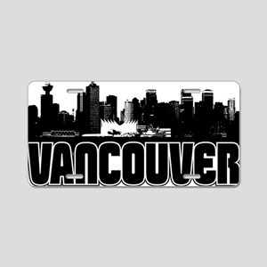 Vancouver Skyline Aluminum License Plate