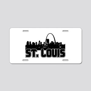 St. Louis Skyline Aluminum License Plate