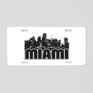 Miami Skyline Aluminum License Plate