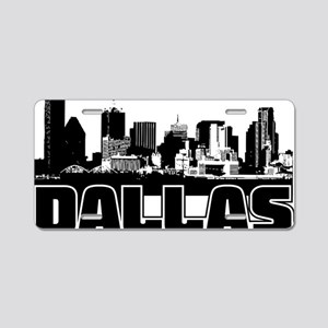 Dallas Skyline Aluminum License Plate