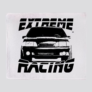 New Mustang Racing Throw Blanket
