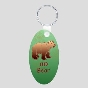 Baby Cherokee Bear Aluminum Oval Keychain