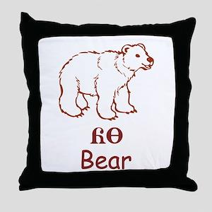 Baby Cherokee Bear Throw Pillow