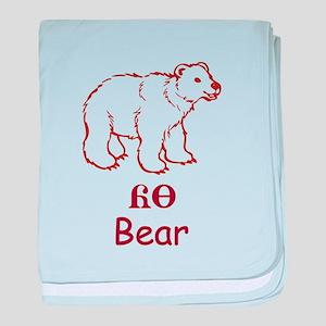 Baby Cherokee Bear baby blanket