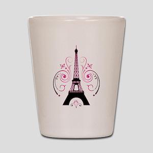 Eiffel Tower Gradient Swirl Shot Glass