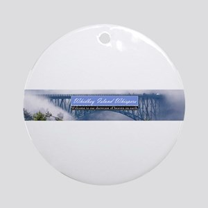 Whidbey Island Whispers Banne Ornament (Round)