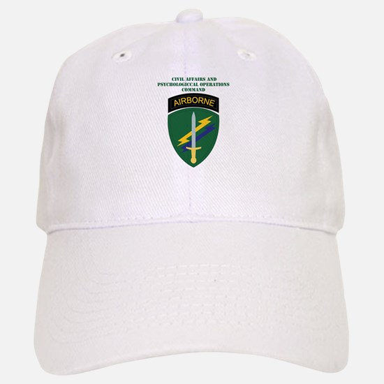 SSI - USACAPOC with Text Baseball Baseball Cap