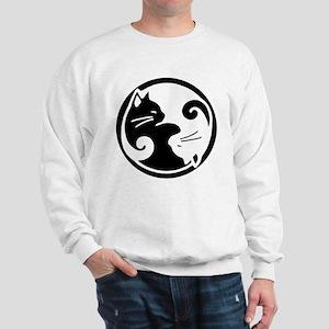 Tao of Meow / Yin Yang Cats Sweatshirt