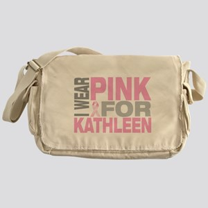 I wear pink for Kathleen Messenger Bag