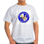 ICE in blue Ash Grey T-Shirt