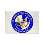 ICE in blue Rectangle Magnet (100 pack)