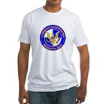 ICE in blue Fitted T-Shirt