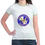 ICE in blue Jr. Ringer T-Shirt