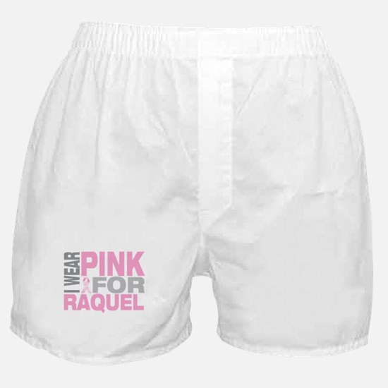 I wear pink for Raquel Boxer Shorts