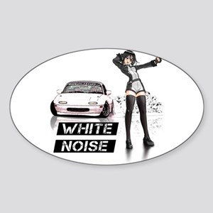 White MX5 Miata Drift anime Sticker