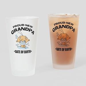 Proud New Grandpa Personalized Drinking Glass