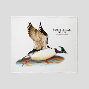 Bufflehead Duck Throw Blanket