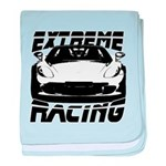 Racer baby blanket