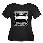 Racer Women's Plus Size Scoop Neck Dark T-Shirt