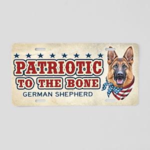 Patriotic - German Shepherd Aluminum License Plate