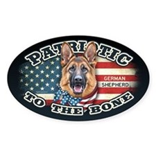 Patriotic - German Shepherd Sticker (Oval)