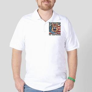 Patriotic - German Shepherd Golf Shirt