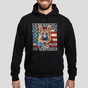 Patriotic - German Shepherd Hoodie (dark)