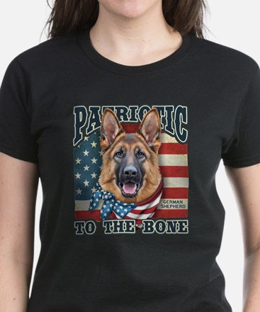 Patriotic - German Shepherd Women's Dark T-Shirt